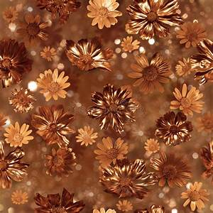 Gilded Flower Buds Pattern Stock Photography - Image: 34902942