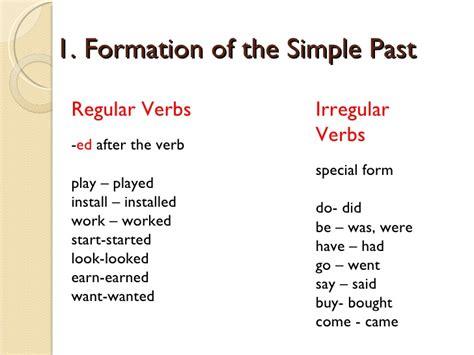 The Simple Past Presentation