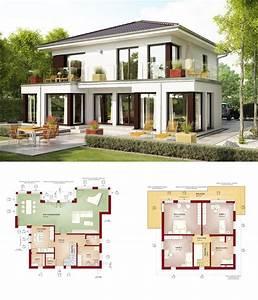 Moderne Häuser Mit Grundriss : einfamilienhaus evolution 154 v10 bien zenker fertighaus modern mit walmdach haus grundriss ~ Markanthonyermac.com Haus und Dekorationen