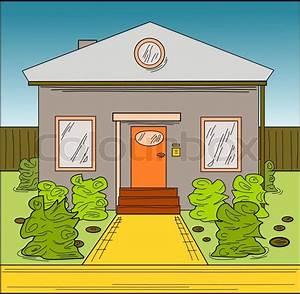 Bilder Hausbau Comic : haus gezeichnet comic cartoon style vektorgrafik colourbox ~ Markanthonyermac.com Haus und Dekorationen