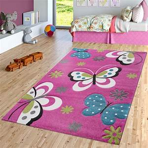 Teppich Kinderzimmer Grau : schmetterling teppich fuchsia pink grau creme kinderzimmer teppiche butterfly ebay ~ Markanthonyermac.com Haus und Dekorationen
