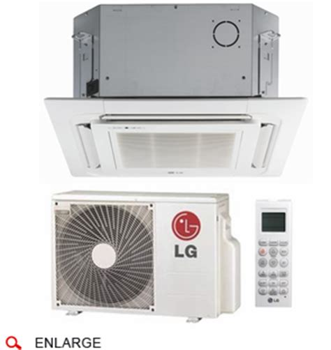 lg lc127hv4 ceiling cassette single zone ductless mini split with inverter heat cool