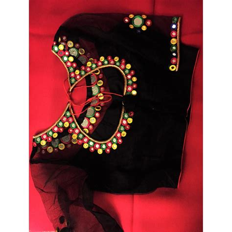 Boat Neck Readymade Blouses Online by Mirror Boat Neck Readymade Beautiful Designer Silk Work