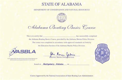 Alabama Fine For No Boating License by Alabama Boating License Boat Safety Course Boat Ed 174