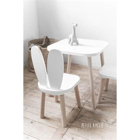 chaises et table enfant lapin blanc am 233 lie chaise table