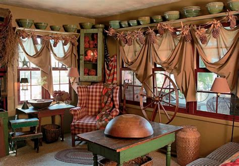 Home Curtain : A Primitive Place & Country Journal Magazine