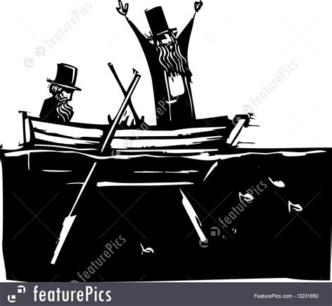 Two Men In A Boat by Two Men In A Boat Illustration