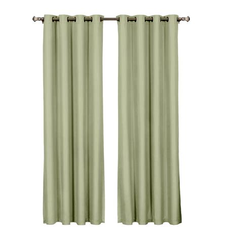 Eclipse Blackout Curtains White by Eclipse Cassidy Blackout White Polyester Grommet Curtain