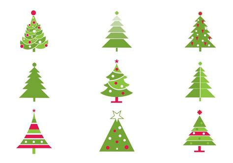Stylized Christmas Tree Vector Pack