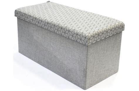 coffre rangement banc pliable gris losange dotty meuble de rangement pas cher