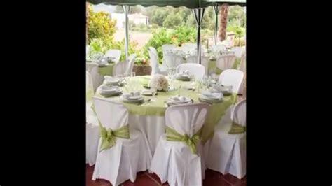 decoration de salle de mariage blanc et vert