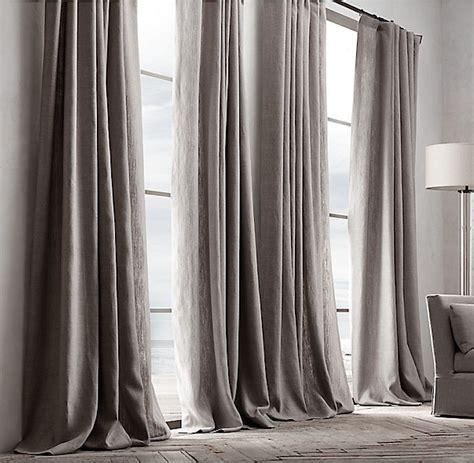 belgian textured linen drapery remodelista