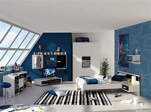 Gaming Zimmer Ideen : am nagement fonctionnel et d co chambre gar on moderne ~ Markanthonyermac.com Haus und Dekorationen