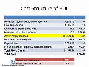 Cost Structure Analysis of Hindustan Unilever Limited