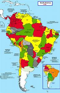 Names Of Countries In South America Map