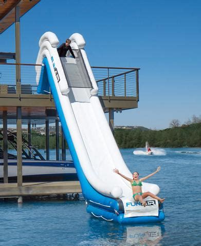 Blow Up Boat Dock by Inflatable Boat 2 Story Dock Slides Water Mat Inflatables