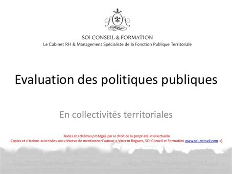 evaluation politique publique presentation