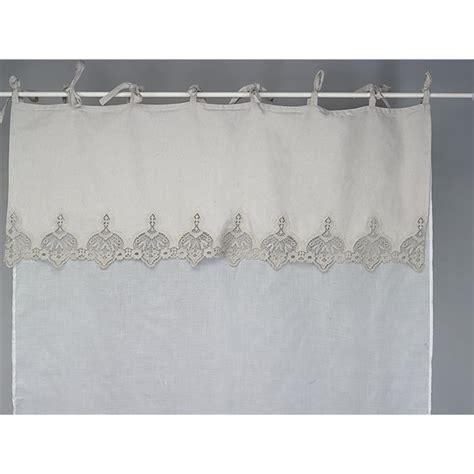 rideau brise bise en voilage blanc et dentelle beige gris 233 e simla neuf ebay