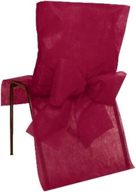 housse de chaise intiss 233 bordeaux avec noeuds intiss 233 tissu non tiss 233 d 233 coration mariage et f 234 tes
