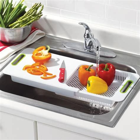 the sink cutting board with colander shops the o
