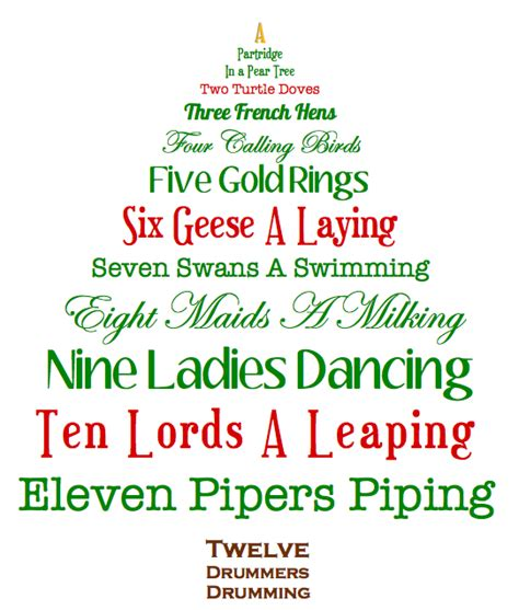 12 Days Christmas Lyrics Printable Dogs Cuteness,  Daily Quotes About Love