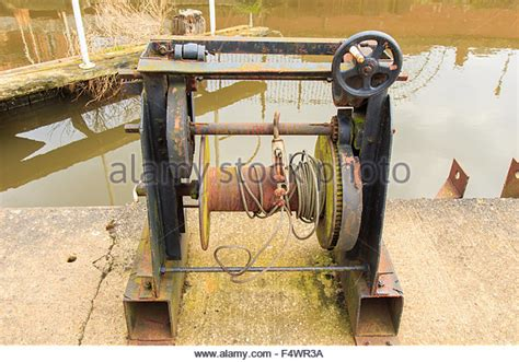 Old Boat Winch by Hand Winch Stock Photos Hand Winch Stock Images Alamy