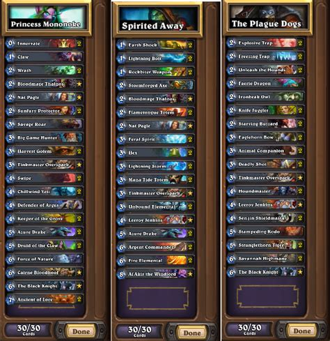 dkmr three decks used to hit legend hearthstone