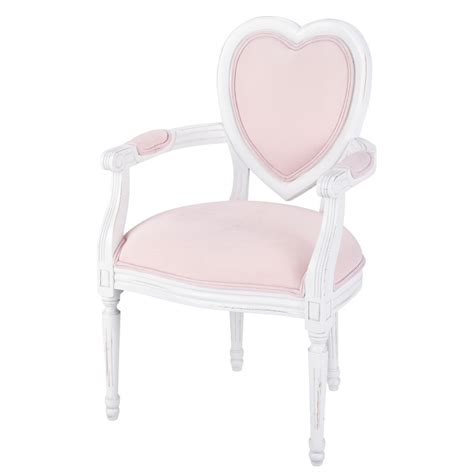 fauteuil enfant en bois et coton coeur maisons du monde
