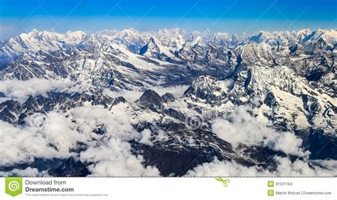 himalaya everest mountain range panorama stock images image 31531164