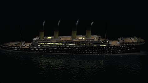 titanic 3d sinking simulation 1280x720 720p hd wip