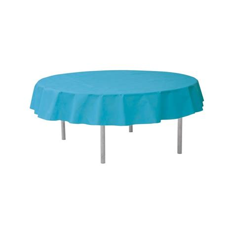 nappe ronde jetable 240 cm turquoise nappe jetable