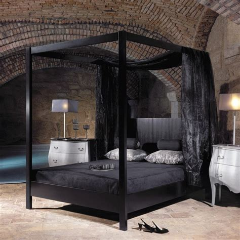 4 poster king bed black four poster king size bed with headboard