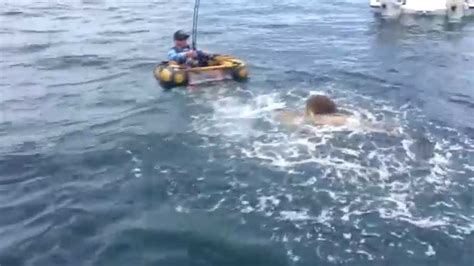 Round Belly Boat by Float Tube Vs Supersized Grouper Oregon Fishing Forum