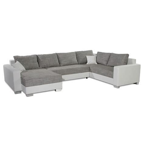canap 233 en u panoramique you blanc et gris canap 233 design