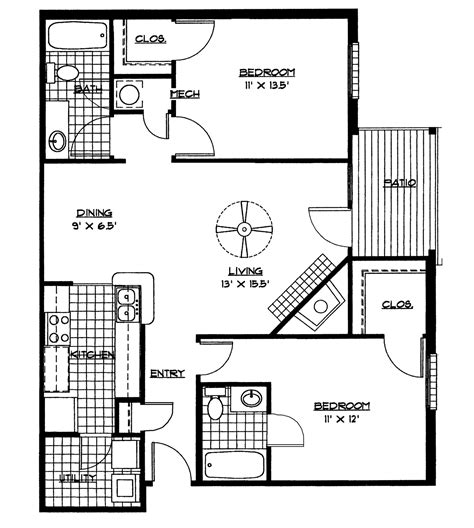 small two bedroom house plans small home plan house design small house floor plans 2 bedrooms bedroom floor plan