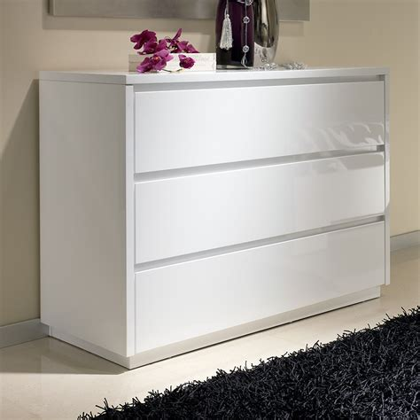 commode blanc laque kissic