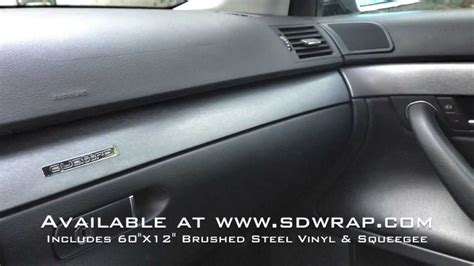 Brushed Steel Vinyl Interior Trim Wrap On An Audi A4
