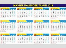 Download Master Kalender Tahun 2019 Gratis PDF & CDR