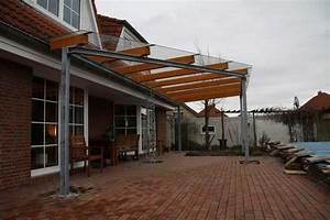Glas Für Terrassenüberdachung Preis : terrassendach aus stahl glas und leimbindern s ule mit ~ Whattoseeinmadrid.com Haus und Dekorationen
