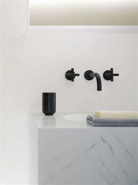 tara wall mount lavatory faucet in black dornbracht fab faucets spas faucets