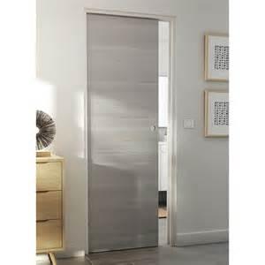 porte coulissante summa gris clair 73 cm syst 232 me 224 galandage integra soft castorama