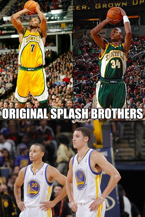 """Nba Memes On Twitter """"the Original Splash Brothers Return With 4 3pointers In The 1st Half"""