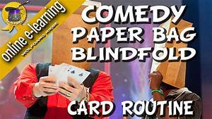 Comedy Paper Bag Blindfold Routine by Wolfgang Riebe video ...