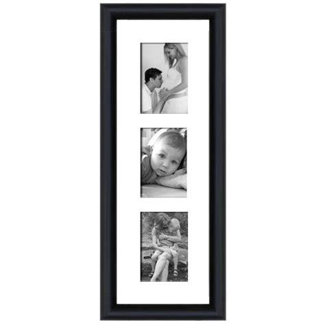 cadre en bois arrondi noir 2 cm multivues 3 photos 10 x 15 ou 15 x 10
