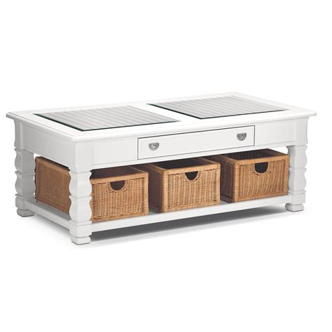 Plantation Cove White Cocktail Table  American Signature. Under Table Cable Management. Round Restaurant Tables. White Wardrobe With Drawers. Living Table. Coner Desk. 7 Drawer Tool Box. Build A Dining Table. Sharp Microwave Drawer 24 Inch