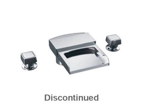 alterna 174 deck mount high flow bath faucet with square