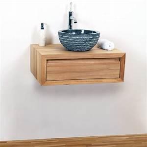 Waschtischplatte Mit Schublade : teakholz waschtisch q h ngend 70x50x25cm bei wohnfreuden kaufen ~ Markanthonyermac.com Haus und Dekorationen