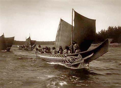 Types Of Native American Boats by File Kwakiutl Sailing Boats Jpg Wikimedia Commons