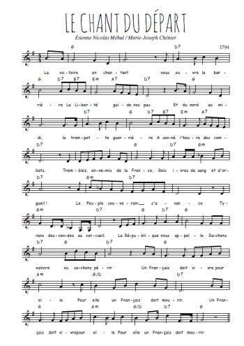 Le Chant Du Départ Partition Gratuite