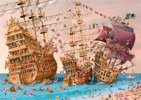 Schip Puzzel by Pirate Ship Jigsaw Puzzle Puzzlewarehouse
